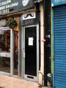 moustache bar door